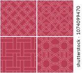 geometric patterns. set of pale ... | Shutterstock .eps vector #1074099470