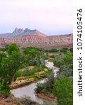 zions national park  utah  usa   Shutterstock . vector #1074105476
