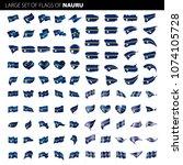 nauru flag  vector illustration | Shutterstock .eps vector #1074105728