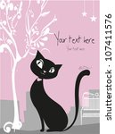 vector black cat | Shutterstock .eps vector #107411576