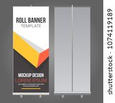 roll up banner abstract design... | Shutterstock .eps vector #1074119189