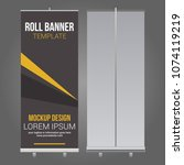 roll up banner abstract design... | Shutterstock .eps vector #1074119219