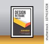 in frame desk poster abstract... | Shutterstock .eps vector #1074119228