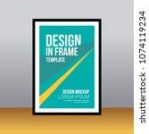 in frame desk poster abstract... | Shutterstock .eps vector #1074119234