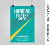 hanging poster clip abstract... | Shutterstock .eps vector #1074119264