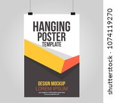 hanging poster clip abstract... | Shutterstock .eps vector #1074119270