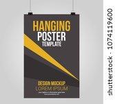 hanging poster clip vector...   Shutterstock .eps vector #1074119600