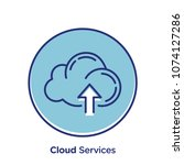 cloud related offset style... | Shutterstock .eps vector #1074127286