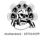 Vector Illustration Skull And...