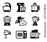 set vector black icons of... | Shutterstock .eps vector #107414834