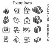 money   investment icon set in... | Shutterstock .eps vector #1074154409