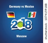 soccer germany vs mexico flags... | Shutterstock .eps vector #1074159188