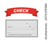 blank check template. check... | Shutterstock .eps vector #1074159584