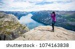 nature photographer tourist...   Shutterstock . vector #1074163838