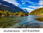 beautiful nature norway natural ...   Shutterstock . vector #1074163964