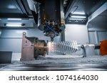 metalworking cnc milling... | Shutterstock . vector #1074164030