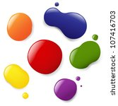 6 color blobs  isolated on... | Shutterstock .eps vector #107416703