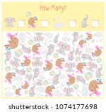 counting game for preschool... | Shutterstock .eps vector #1074177698