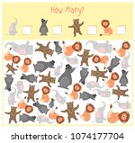 counting game for preschool... | Shutterstock .eps vector #1074177704