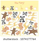 counting game for preschool... | Shutterstock .eps vector #1074177764