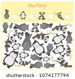 counting game for preschool... | Shutterstock .eps vector #1074177794