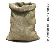 burlap sack open from the top... | Shutterstock . vector #1074178583