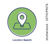 location related offset style... | Shutterstock .eps vector #1074199676