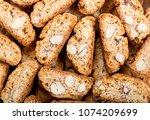 traditional italian cantuccini... | Shutterstock . vector #1074209699