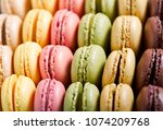 close up of colorful macaroons... | Shutterstock . vector #1074209768