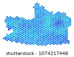 hexagon blue kaliningrad region ... | Shutterstock .eps vector #1074217448
