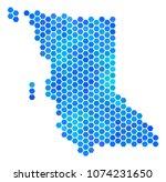 hexagon blue british columbia... | Shutterstock .eps vector #1074231650