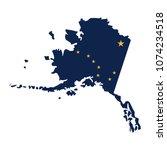 alaska map icon. vector... | Shutterstock .eps vector #1074234518