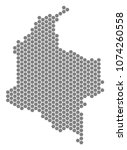 gray hexagon colombia map.... | Shutterstock . vector #1074260558