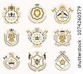 set of vector vintage emblems...   Shutterstock .eps vector #1074260579