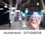 target audience. targeting.... | Shutterstock . vector #1074268358