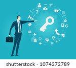 businessmen pointing on the key ... | Shutterstock .eps vector #1074272789