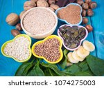 healthy food nutrition dieting... | Shutterstock . vector #1074275003