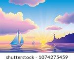 Vector Sunset Or Sunrise...