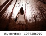 forest of the darkness 3d... | Shutterstock . vector #1074286010