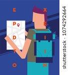vector illustration of a man...   Shutterstock .eps vector #1074292664