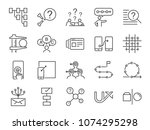 ux icon set. included the icons ... | Shutterstock .eps vector #1074295298