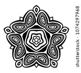 abstract tattoo ornament  | Shutterstock .eps vector #1074297968
