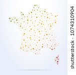 abstract map of france | Shutterstock .eps vector #1074310904