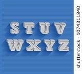 3d metal vintage signage... | Shutterstock .eps vector #1074311840