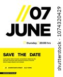 Save The Date Typographical...