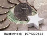 a quarter of hawaii  quarters...   Shutterstock . vector #1074330683