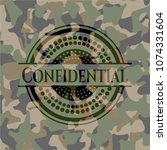 confidential camouflage emblem | Shutterstock .eps vector #1074331604
