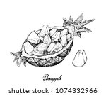 fresh fruits  illustration of... | Shutterstock .eps vector #1074332966