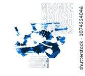 blue brush stroke and texture....   Shutterstock .eps vector #1074334046