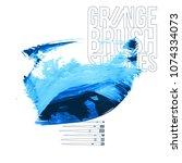 blue brush stroke and texture....   Shutterstock .eps vector #1074334073